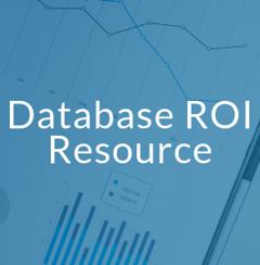 Database ROI Resource (SQL, Oracle, MySQL, etc.)